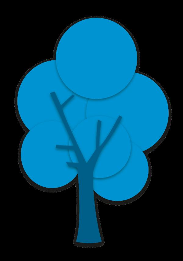 Baum dunkelblau