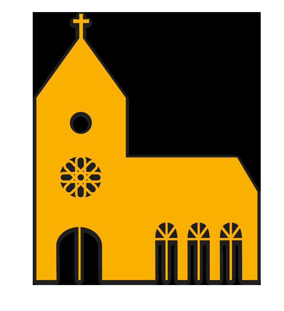Kirche gelb