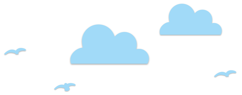 Wolken und Möven